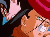 龙珠GT 第46话「激战 超级赛亚人四VS超级十七号」
